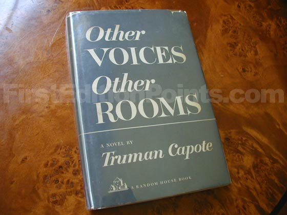 Picture of the 1948 first edition dust jacket for Other Voices, Other Rooms.