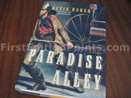Picture of the 2002 first edition dust jacket for Paradise Alley.