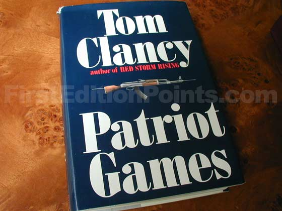 Picture of the 1987 first edition dust jacket for Patriot Games.