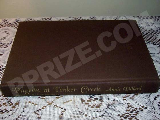 Picture of the first edition Harper and Row boards for Pilgrim At Tinker Creek.