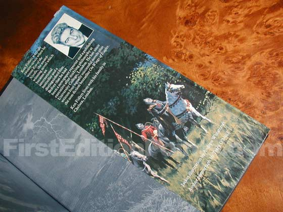 Picture of the back dust jacket flap for the first edition of The Pillars of the Earth.