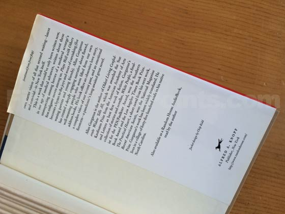 Picture of the back dust jacket flap for the first edition of Plays Well with Others.