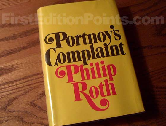 Picture of the 1969 first edition dust jacket for Portnoy's Complaint.