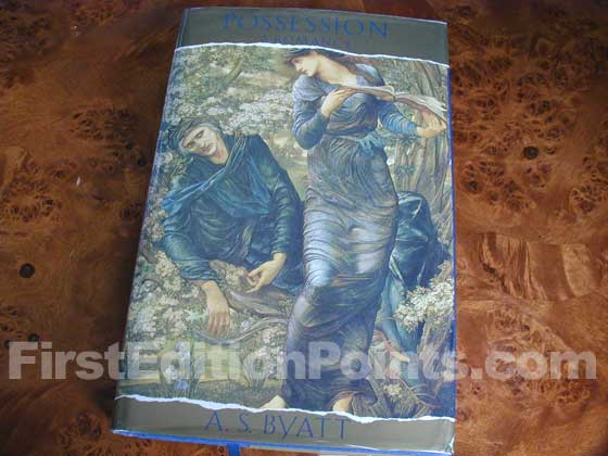 Picture of the 1990 first edition dust jacket for Possession.