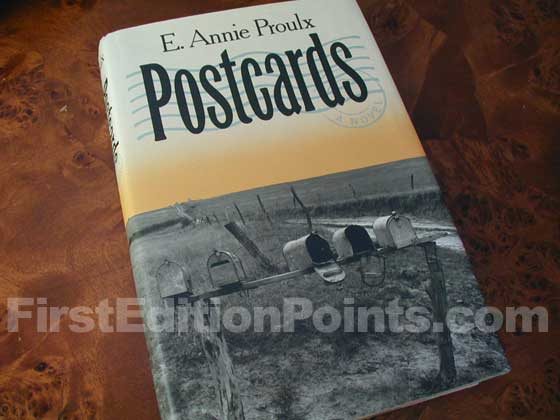 Picture of the 1992 first edition dust jacket for Postcards.