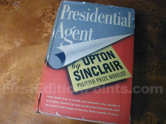 Picture of the 1944 first edition dust jacket for Presidential Agent.