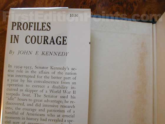Picture of dust jacket where original $3.50  price is found for Profiles In Courage.