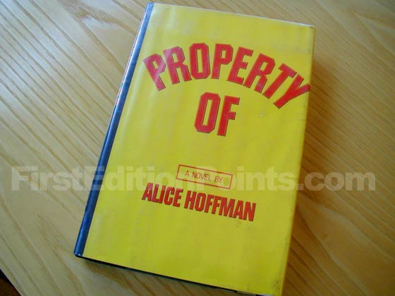 Picture of the 1977 first edition dust jacket for Property Of.