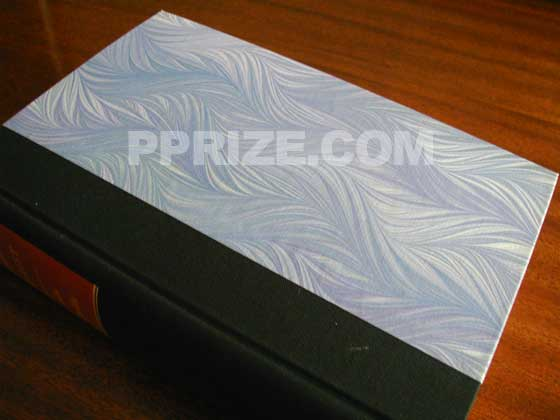 Knopf's limited first edition had marbled paper covered boards.