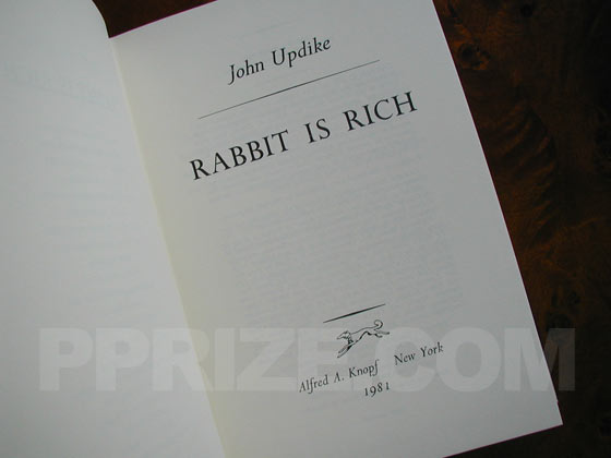 The title page of Rabbit is Rich is the same for both the limited an non-limited first