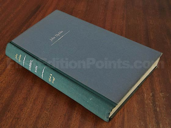 Picture of the first edition Alfred A. Knopf boards for Rabbit, Run.