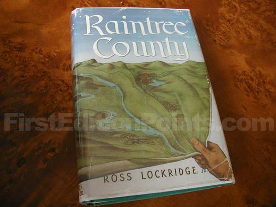 Picture of the 1948 first edition dust jacket for Raintree County.