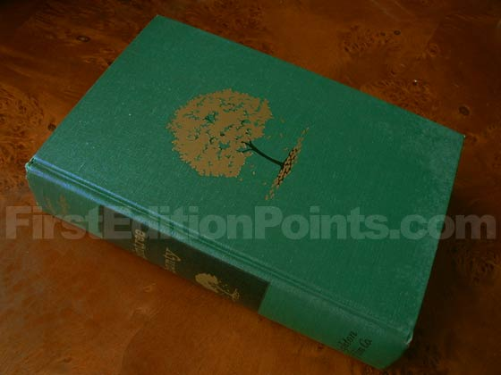 Picture of the first edition Houghton Mifflin Company boards for Raintree County.