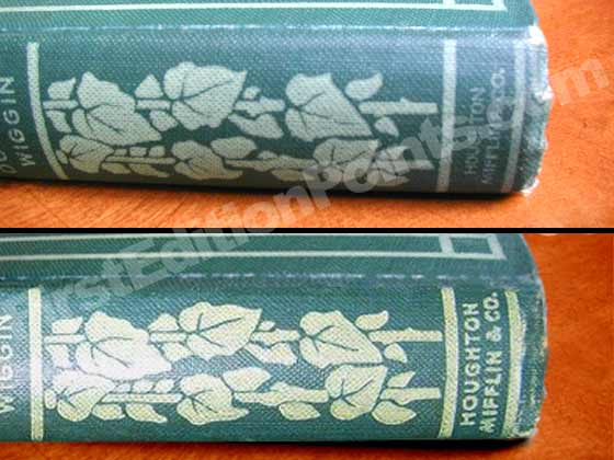 The publisher's name on the spine of Rebecca of Sunnybrook Farms was changed from