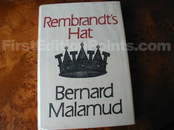 Picture of the 1973 first edition dust jacket for Rembrandt's Hat.