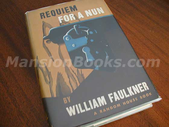 Picture of the 1951 first edition dust jacket for Requiem for a Nun.