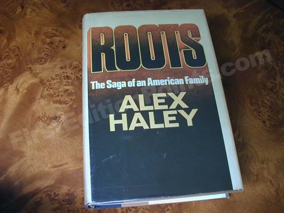 Picture of the 1976 first edition dust jacket for Roots.