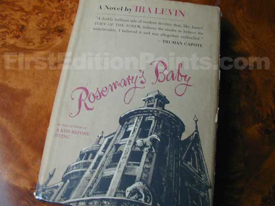 Picture of the 1967 first edition dust jacket for Rosemary's Baby.