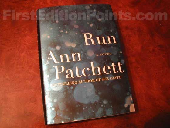Picture of the 2007 first edition dust jacket for Run.