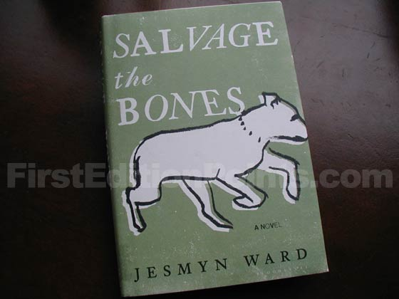 Picture of the 2011 first edition dust jacket for Salvage the Bones.