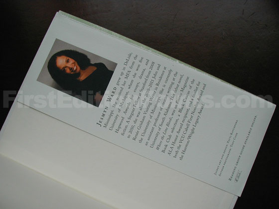 Picture of the back dust jacket flap for Salvage the Bones.
