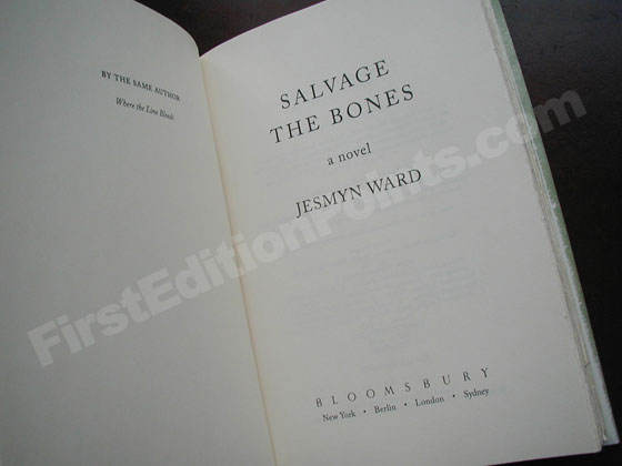 Picture of the title page for Salvage the Bones.