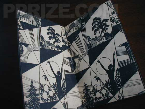 "The compact ""Airplane Edition"" features the same decorated endpapers found on the first"