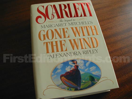 Picture of the 1991 first edition dust jacket for Scarlett.