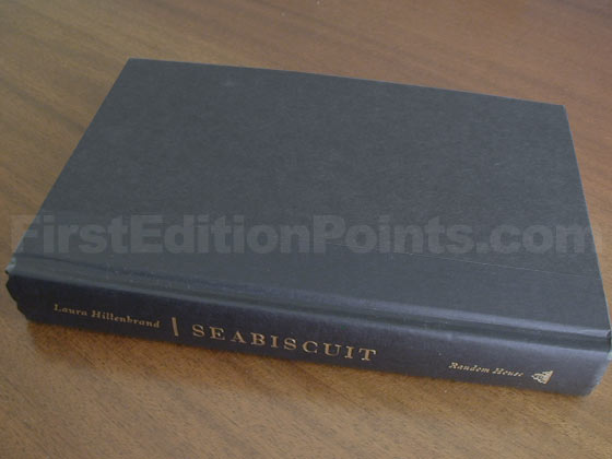 Picture of the first edition Random House boards for Seabiscuit.
