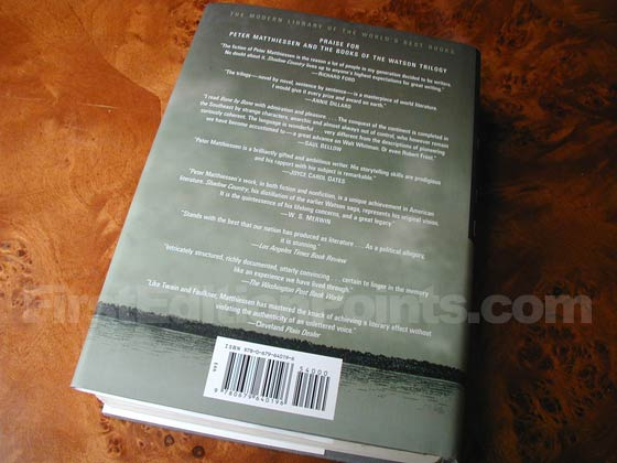 Picture of the back dust jacket for the first edition of Shadow Country.