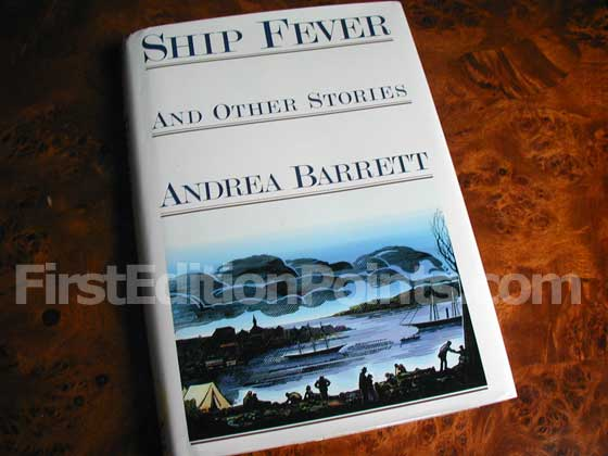 Picture of the 1996 first edition dust jacket for Ship Fever and Other Stories.