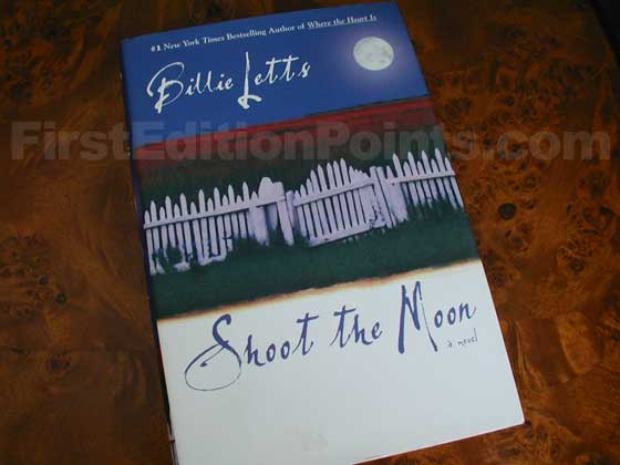 Picture of the 2004 first edition dust jacket for Shoot the Moon.