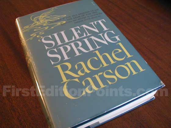 Picture of the 1962 first edition dust jacket for Silent Spring.