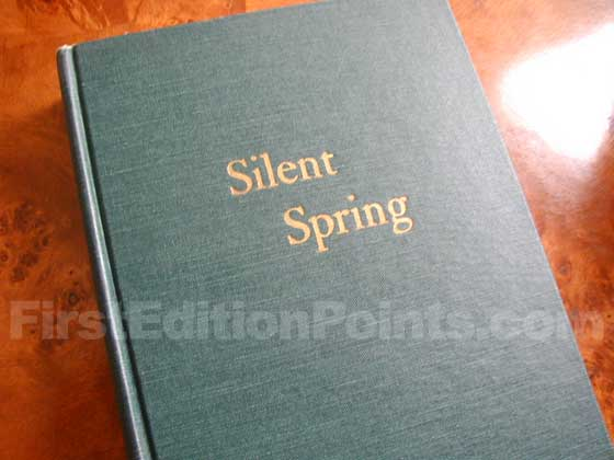 Picture of the first edition Houghton Mifflin Company boards for Silent Spring.
