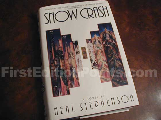Picture of the 1992 first edition dust jacket for Snow Crash.