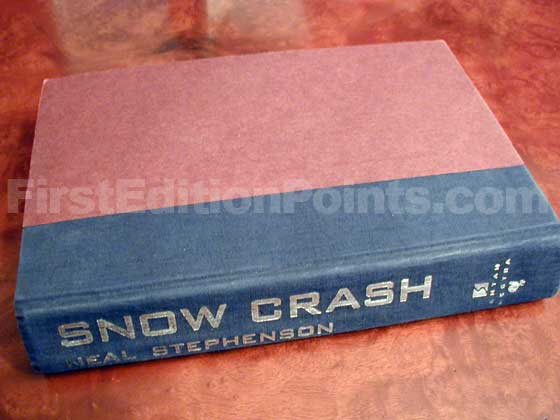 Picture of the first edition Bantam Books boards for Snow Crash.