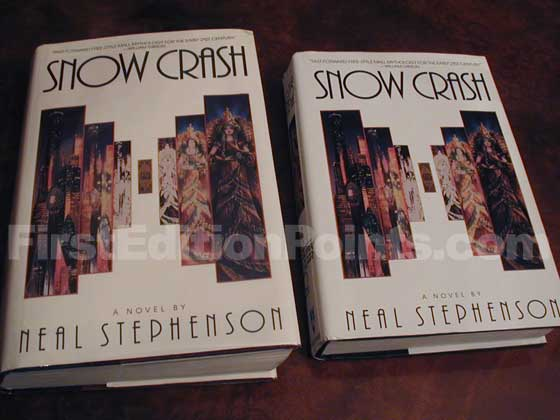 The true first edition of Snow Crash is larger than the book club edition.  The true