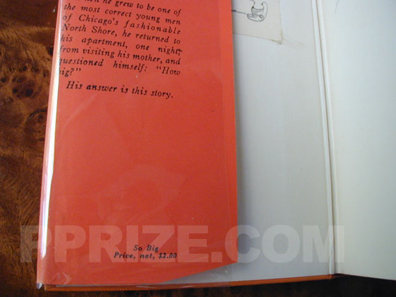 This twelfth printing dust jacket carries a $2.00 price on the bottom front flap.  The