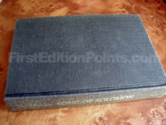 Picture of the first edition Alfred A. Knopf boards for Song of Solomon.