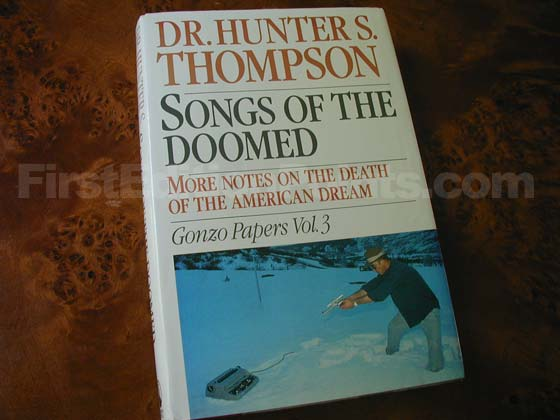 Picture of the 1990 first edition dust jacket for Songs of the Doomed.