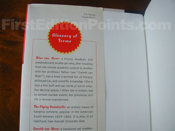 Picture of dust jacket where original $25.95 price is found for Special Topics in