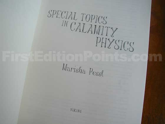 Identification picture of Special Topics in Calamity Physics.