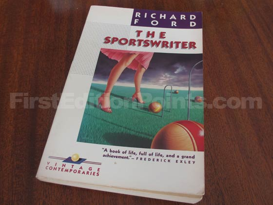 The front wrapper from the first edition of The Sportswriter.
