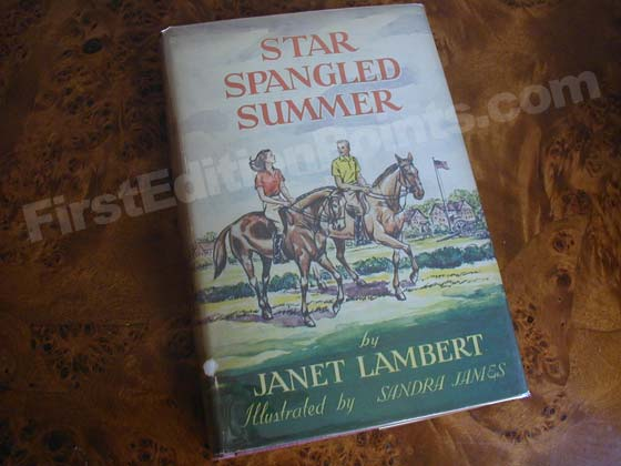 Picture of the 1941 first edition dust jacket for Star Spangled Summer.