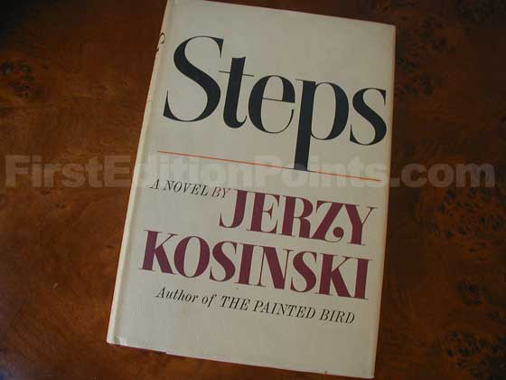 Picture of the 1968 first edition dust jacket for Steps.