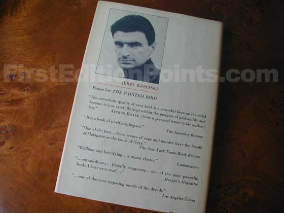 Picture of the back dust jacket for the first edition of Steps.