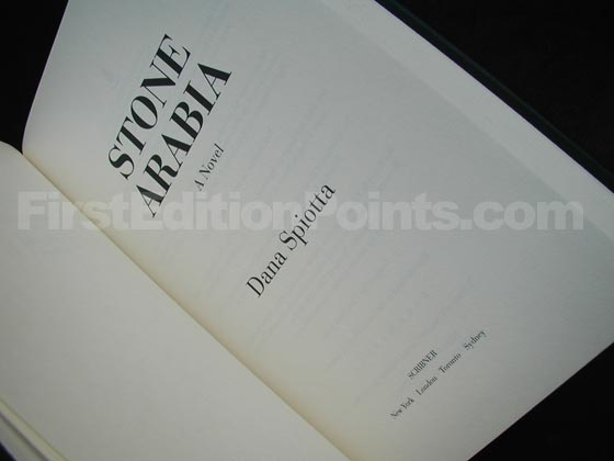 Picture of the first edition title page for Stone Arabia.