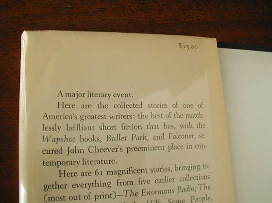 Identification picture of The Stories of John Cheever.