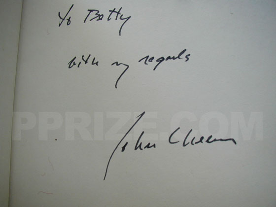 Autograph: Signature of John Cheever.