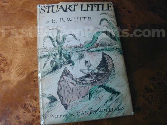 Picture of the 1945 first edition dust jacket for Stuart Little.